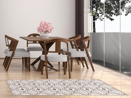 tapis vinyle carreaux de ciment trianon marsala. Black Bedroom Furniture Sets. Home Design Ideas